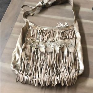 Jimmy Choo fringe hobo bag